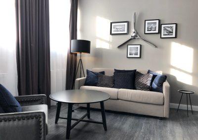 Apartment mit Wohn und Schlafzimmer